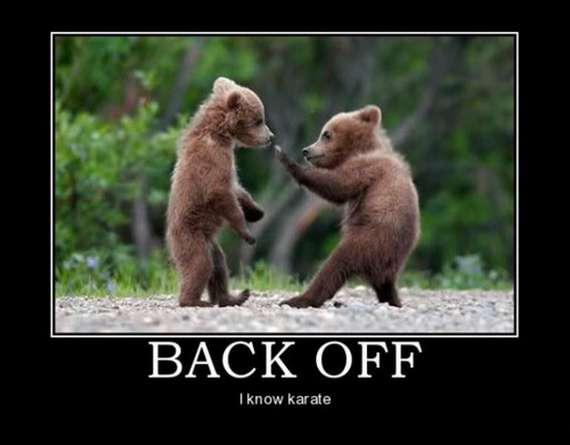 Back off! I know karate
